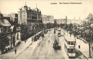 London, The Thames Embankment, autobus (double decker)