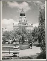 cca 1970-1980 Kecskemét, Zsinagóga, Heltay fotó, 15x12 cm