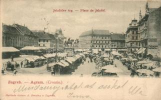 Zagreb, Jelacicev trg. / square, market