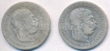 Ausztria 1895-1988. 1K Ag Ferenc József (2xklf) T:3 Austria 1895-1898. 1 Corona Ag Franz Joseph (2xdiff) C:F