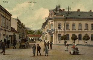 Nyitra, Nitra; Telegdy utca, üzletek, Fürst Sz. kiadása / street, shops (EK)