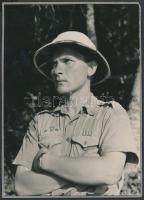 1933 Gödöllő, Jamboree, cserkészfiú, kartonra ragasztott fotó, 18x13 cm