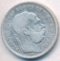 1892KB 1K Ag Ferenc József T:3  Adamo K5