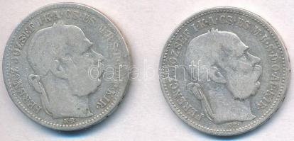 1893-1895KB 1K Ag Ferenc József (2xklf) T:3  Adamo K5