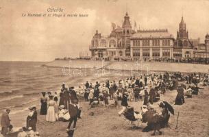 Ostend, Ostende; Kursaal, Plage a maree haute / beach