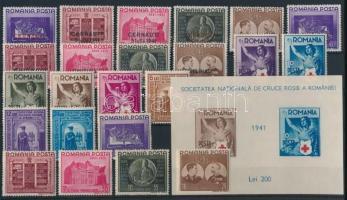 1941 6 klf sor és 1 blokk (**Mi EUR 125,-)