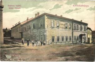 Körmöcbánya, Kremnica; Hotel Hirsch / Szarvas szálló, gyerekek, Braun Ármin kiadása / hotel, children (kis szakadás / small tear)