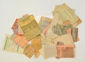 cca 1944-1945 Vegyes élelmiszerjegyek, vásárlási igazolványok