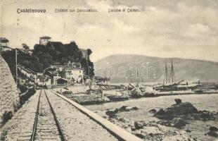 Herceg Novi, Castelnuovo; Einfahrt zur Bahnstation / Entrance to railway station (EK)