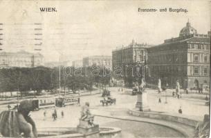 Vienna, Wien; Franzens- und Burgring / streets, tram (Rb)