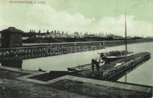 Balatonboglár, új kikötő, Simon Géza kiadása (EK)