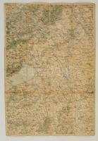 cca 1910 Székesfehérvár és a Balaton vászon térkép 40x60 cm
