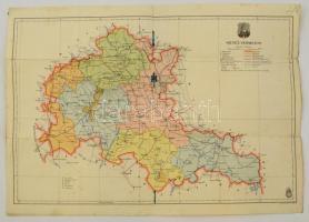 cca 1910 Budapest és környéke katonai térkép 55x60 cm