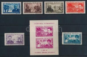 1945 Antifasiszta ellenállás sor Mi 847-852 + blokk Mi 27 (**Mi EUR 38,-)