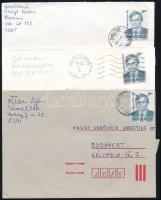 1993 3 db Antal József blokk + Antal József 3-as csík + 10 db boríték Antal József bérmentesítéssel