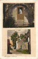 Lőcse, Levoca; Fehér asszony, várfal, Filip Braun kiadása / the white woman, castle wall (EK)