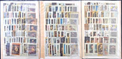 Szovjetunió sorok, önálló értékek, blokkok + kb. 200 db pecsételt Festmény motívum bélyegek 8 lapos közepes berakóban + 3 db közepes berakólapon