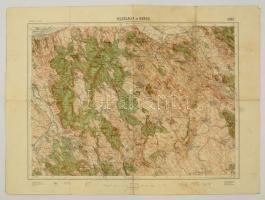 cca 1929 Kőszeg térképe, 1:75000, Magyar Királyi Állami Térképészet, 47×64 cm