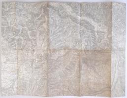 cca 1910 Isonzo- Tolmien és környéke katonai térkép / Military map 60x40 cm