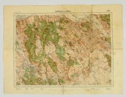cca 1931 Felsőgalla és Dorog, 1:75.000, M. Kir. Állami Térképészet, a hajtásoknál kissebb szakadásokkal, 47×62 cm.