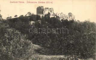 Lánzsér, Landsee; várrom, A. Pelnitschar kiadása / castle ruins (EK)