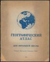 1945 Szovjet iskolai atlasz / Soviet school atlas