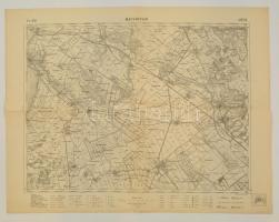 cca 1925 (Moson)magyaróvár térképe, 1:75.000, 46x60 cm.