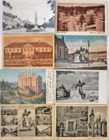 Kb. 208 db főleg RÉGI történelmi magyar városképes lap, vegyes minőség / Cca. 208 mostly pre-1945 historical Hungarian town-view postcards, mixed quality