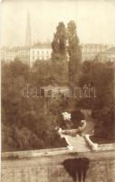 1911 Vienna, Wien I. Stadtpark, die Befreiung der Quelle / park, fountain, photo (EK)