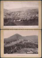 cca 1880 Mürzzuschlag, Semmering, Graz 3 osztrák városkép / Austrian vintage photos 18x12 cm