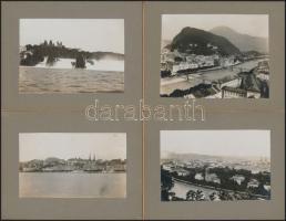 cca 1930 Luzern, Schaffhausen, Salzburg 4 svájci, osztrák városkép / Austrian - Swiss vintage photos 10x7 cm