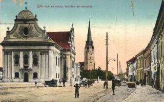 7 db főleg RÉGI történelmi magyar városképes képeslap, 1 MODERN reprinttel / 7 mostly pre-1945 historical Hungarian townview postcards, 1 MODERN reprint