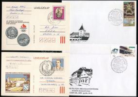 ~300 db bélyeg, 17 db blokk és 5 db emlékív 5 db borítékban + 4 db levél és levelezőlap