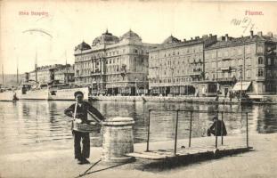 Fiume, Riva Szapáry. Divald Károly / port
