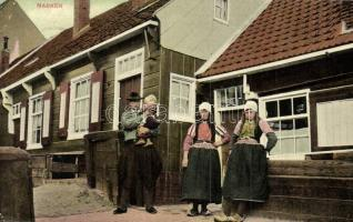 Marken, street view with folklore