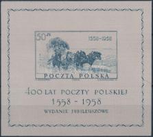 1958 400 éves a lengyel posta selyem blokk Mi 22