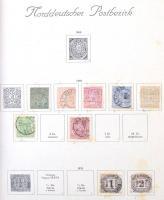 Németország 1868-1943 Gyűjtemény Schaubek előnyomott albumlapokon barna borítóban (Mi EUR 1.425,-)