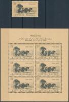 1958 400 éves a lengyel posta kiállítás Mi 1072 + kisív Mi 1072 I