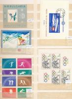 Sport motívum összeállítás, benne sorok, blokkok 2 db nagyalakú berakólapon (Mi EUR 175,-)