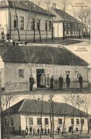 Jászfelsőszentgyörgy, Orvoslak és községháza, Hangya szövetkezet, Római katolikus iskola (Rb)