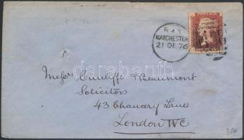 1879 Helyi levél MANCHESTER