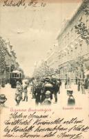 Szabadka, Subotica; Kossuth utca, villamos / street, tram