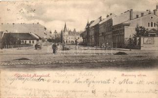 1899 Kassa, Kosice; Barkóczy utca, kiadja Vitéz A. / street view