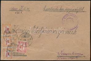 1924 (14. díjszabás) Távolsági levél Hivatalos 3 x 500K + 300K bérmentesítéssel