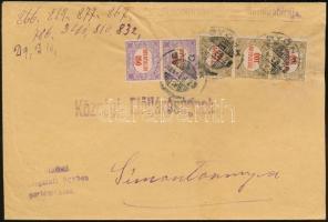 1924 (12. díjszabás) Távolsági levél Hivatalos 2 x 350K + 3 x 100K bérmentesítéssel