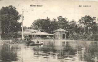 Buziásfürdő, Szent Antal tó. Heksch Manó kiadása / lake