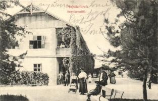 Püspökfürdő, Baile 1 Mai; Amerika szálló / hotel