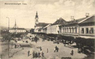 Máramarossziget, Sighetu Marmatiei; Főtér, vásár / main square, market