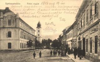 Liptószentmiklós, Liptovsky Mikulas; Fő tér, Korona szálloda és kávéház / main square, hotel and cafe