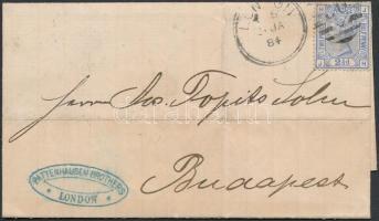 1884 Levél LONDON - Budapest